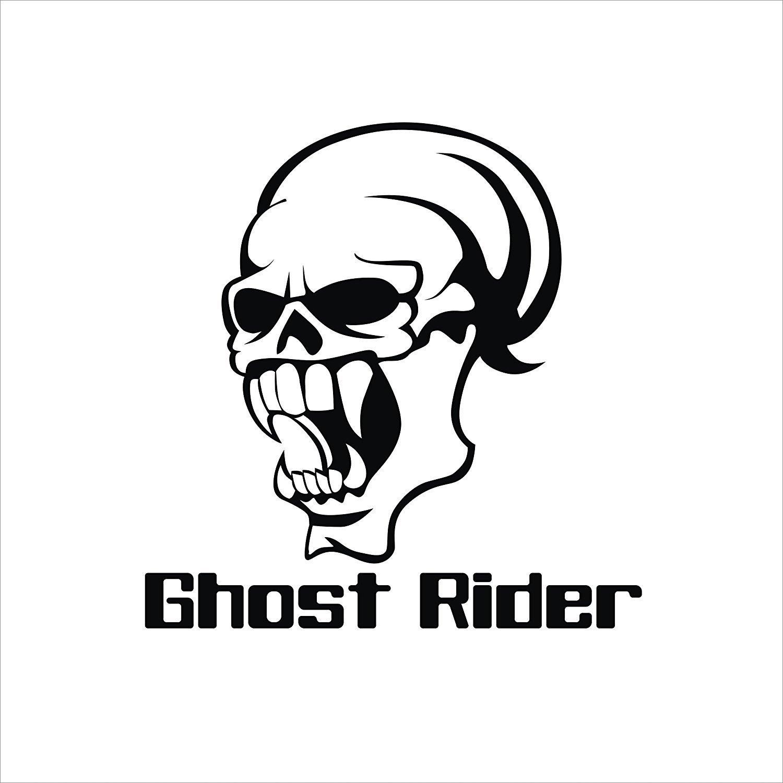 Isee360 ghost ride logo royal enfield bullet sticker classic 350 bikechaiserearsidesbumper sportive sticker black amazon in car motorbike