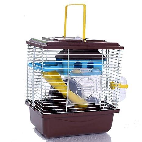 Yuandudu Gouwo Hamster Jaula, Doble Hamster Villa con claraboya ...