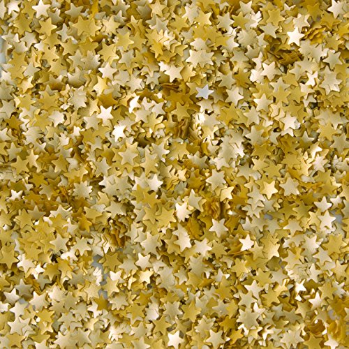 Edible Glitter .04 Ounces/Pkg-Gold Stars
