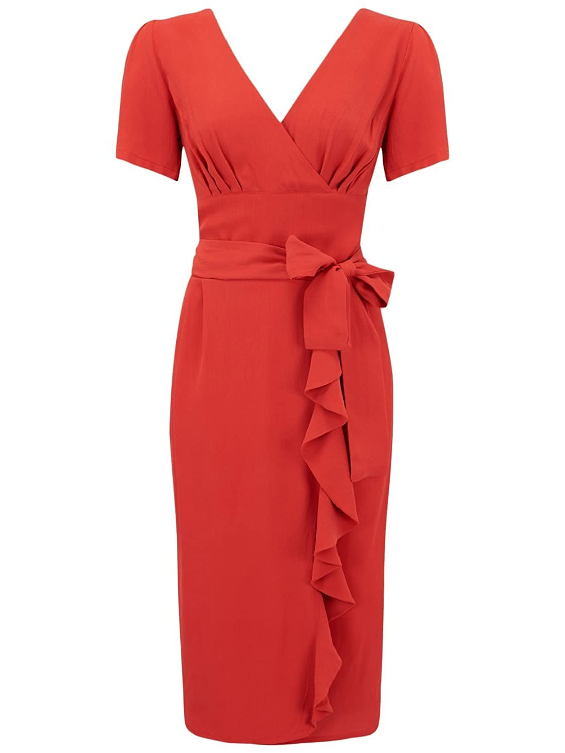 1940's Authentic Vintage Inspired 'Lilian' Dress in Red