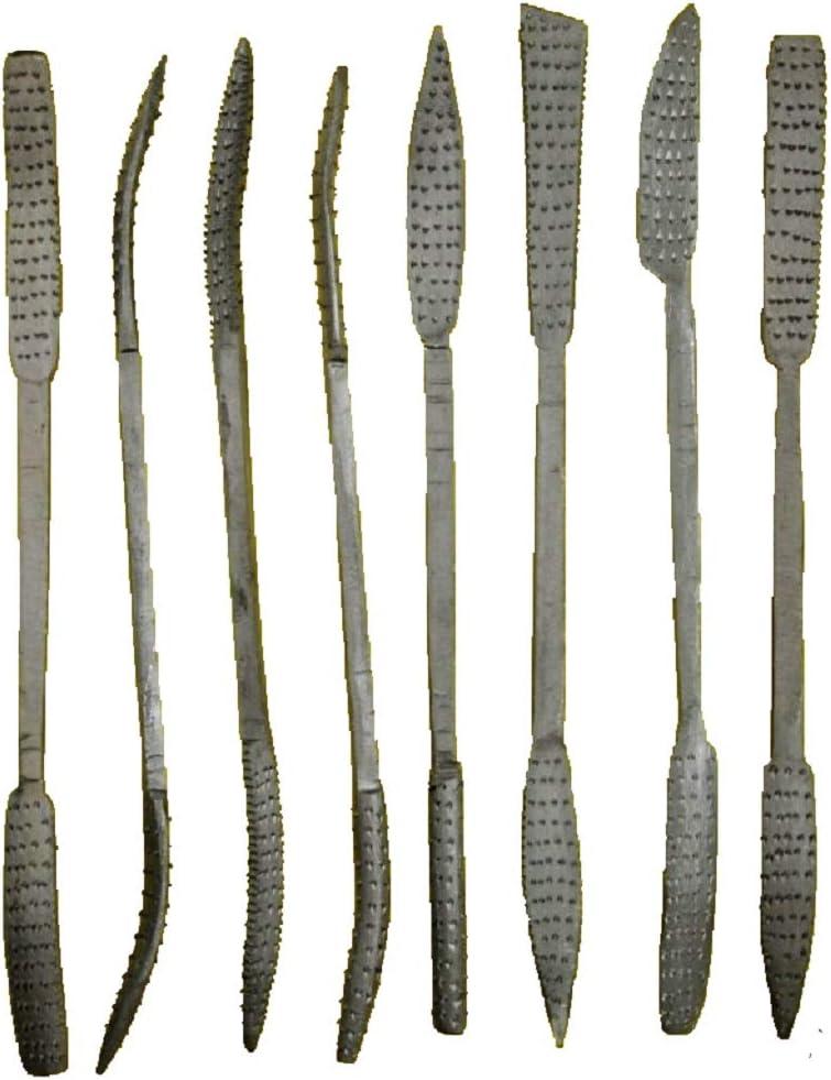 Set di 8 lime per legno e pietra ollare