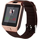 DZ09 Bluetooth Smart Watch with Camera for Iphone and Android Smartphones Samsung Sony LG (golden)
