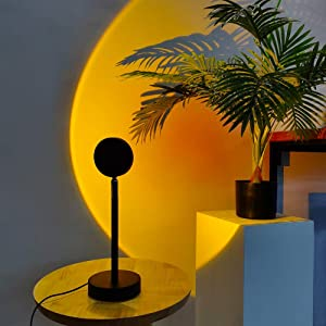 Sunset Lamp, Sunset Projection Lamp, 360 Degrees Rotation Sunset Lamps Projector, Cool Room Decor, Night Light Projector Led Lamps for Living Room, USB Charging Sunset Lamp Decoration for Baby
