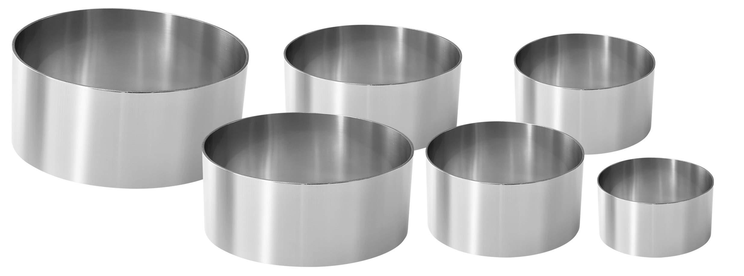 Fackelmann Set de 6 emporte-pièces professionnels en acier - argent
