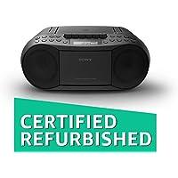 (Renewed) Sony CFD-S70 Boombox (Black)