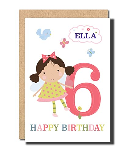 Personalised 6th Birthday Card For Daughter GrandDaughter Niece Cousin Amazoncouk Handmade