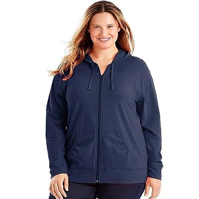 Just My Size Slub-Cotton Full-Zip Women's Hoodie