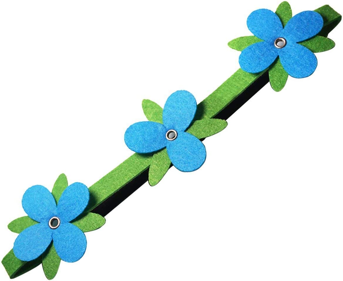 4 Pack Trolls Poppy Flowers Headwrap Headband Non-Woven Fabric Hairband Trolls Party Supplies Cosplay Costumes for Kids