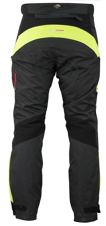 A-Pro Pantaloni Impermeabile Moto Imbottitura Termica Estraibile Traspirante Fluo 30