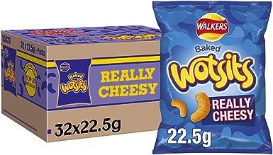 Walkers Crisps Wotsits Snacks realmente cursi Caja, 22.5 g, Caja de 32: Amazon.es: Alimentación y bebidas