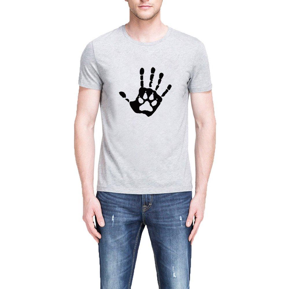 Loo Show Hand Print Dog Paw Casual Funny T Shirts Tee