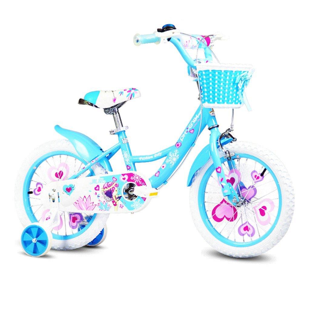 DGF 子供の自転車16/14/12/18インチの女の子の自転車2-8子供のベビーカー (色 : 青, サイズ さいず : 18 inches) B07F17L63M青 18 inches