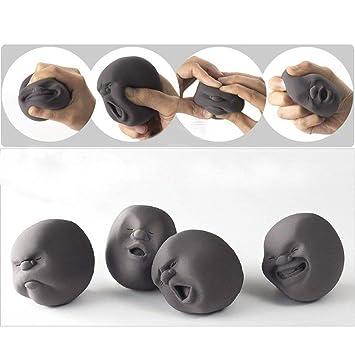 Eqlef 1pcs Lustige Neuheit Geschenk Der Japanischen Gadgets Vent Menschliches Gesichts Kugel Anti Stress Scented Caomaru Toy Geek Gadget Vent