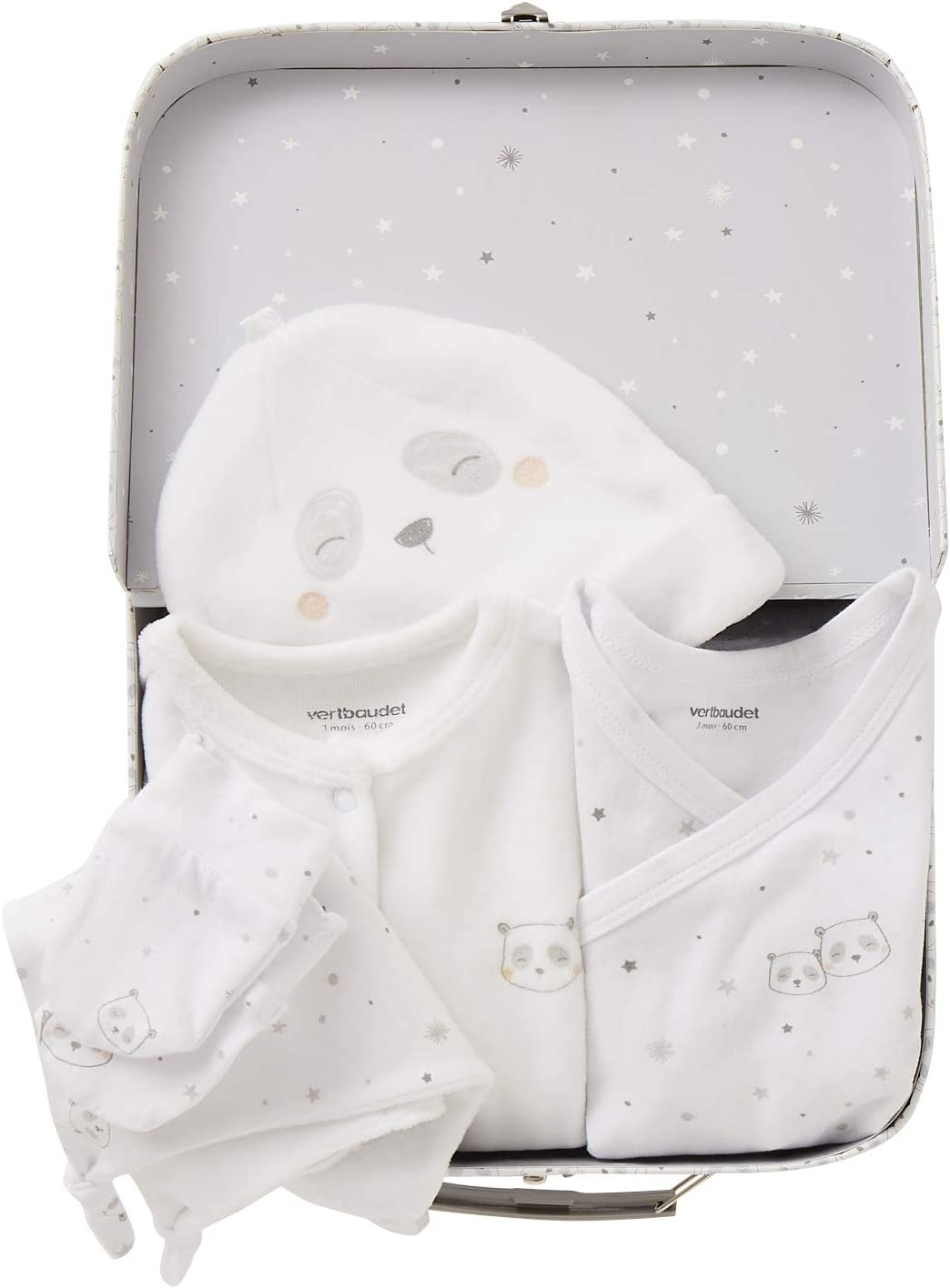 VERTBAUDET Kit naissance 6 pi/èces et sa valise Blanc 1M 54CM