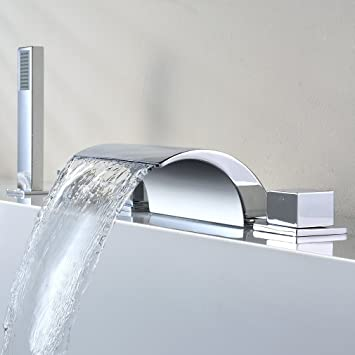 KINSE® 5 Units Waterfall Mixer Faucet Bathtub Tap Rainshower ...