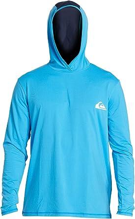 Quiksilver Mens Dredge Ls Hooded Long Sleeve Rashguard Surf Shirt