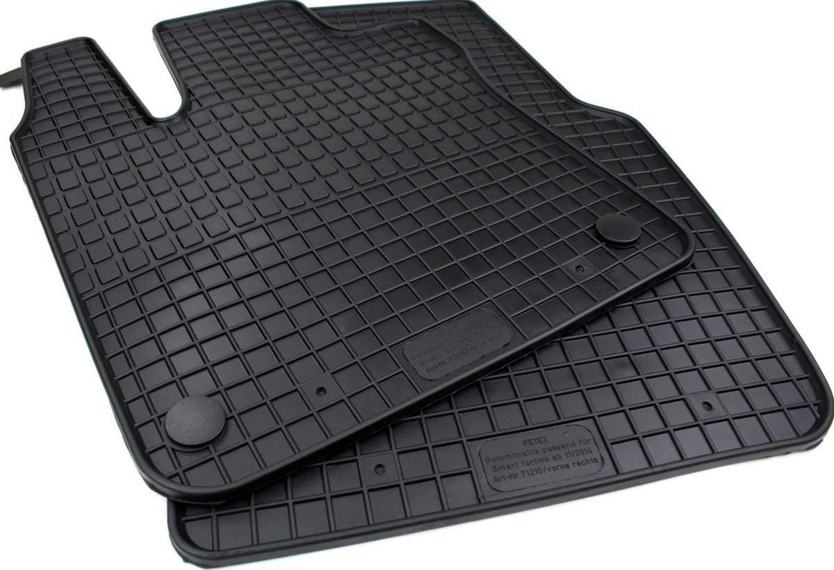 Gummimatten Premium Qualität Fußmatten 2 Teilig Für Fortwo Forfour Ab Bj 11 2014 Twingo Ab 09 2014 Auto