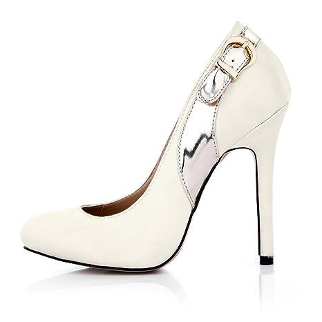 Best 4U® Scarpe da donna primavera autunno scarpe PU in ecopelle punta  tonda 12CM Tacchi 218fd3a03de