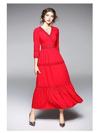 JIALELE Vestido Fiesta Mujer,De Fiesta Chiffon Con Impresión Fina Cintura Y Delgado Vestido,