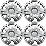 hubcaps toyota camry 15 - Hub-Caps for Select Toyota Camry (Pack of 4) 15 Inch Silver Wheel Covers