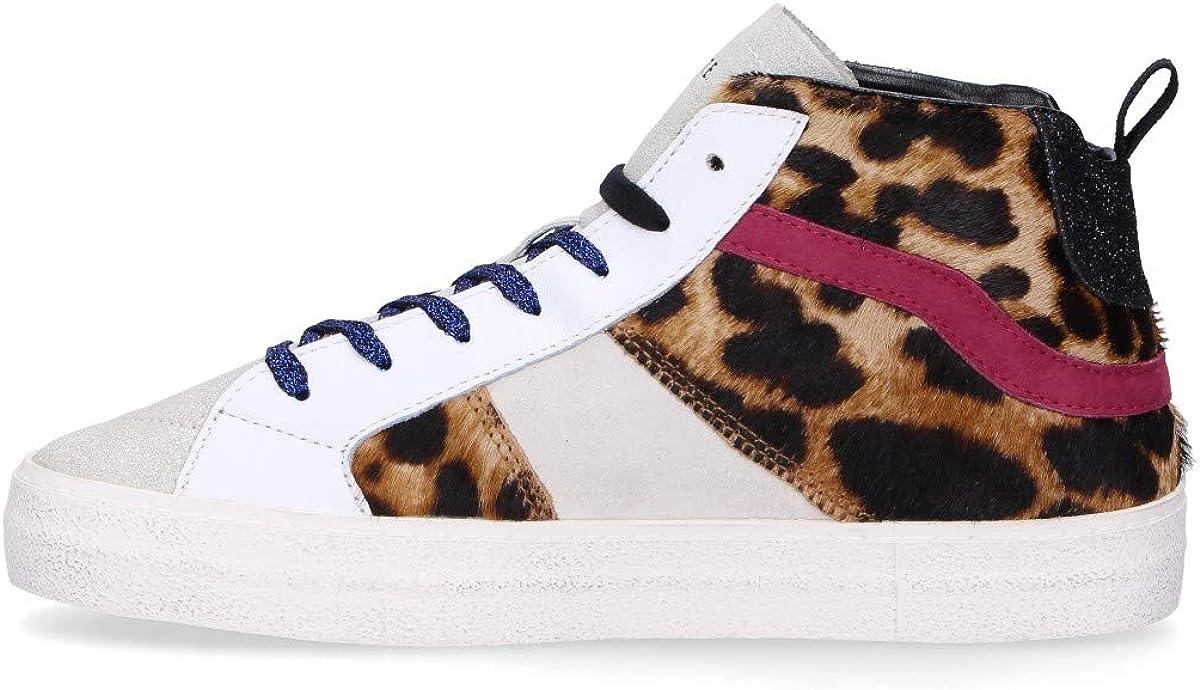 D.A.T.E. Scarpe Donna Hawk Animalier Leopard AI19 Multicolore