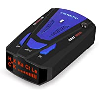Radar Detector, Voice Alert and Car Speed Alarm System with 360 Degree Detection, City/Highway Mode Radar Detectors for Cars (FCC Approved) (Blue-New)