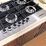 """!!! CLEARANCE !!! 36"""" Black Electric Tempered Glass Built-in 6 Burner Kitchen Gas Cooktop"""