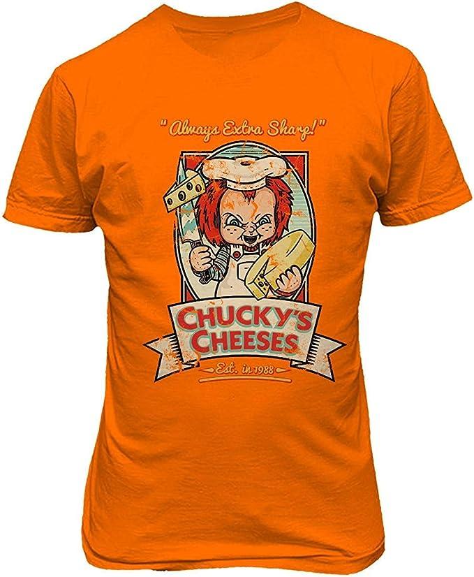 Mbefore Nueva Camisa de la Novedad Chucky Cheeses Childs Play Funny Halloween Camiseta Hombre,S: Amazon.es: Ropa y accesorios