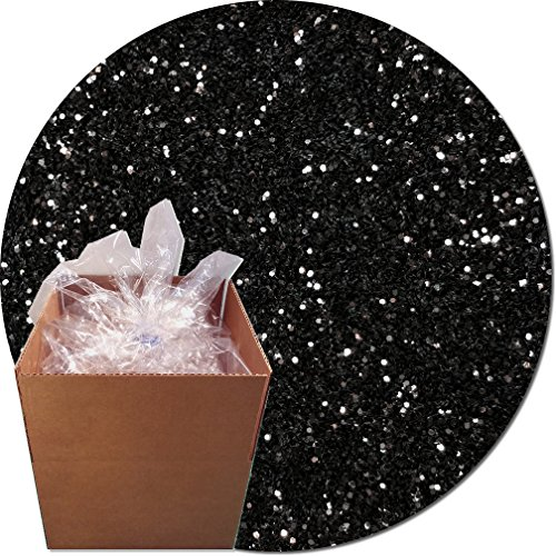 Glitter My World! Craft Glitter: 25lb Box: Black Glimmer by Glitter My World!
