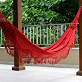 NOVICA Crimson Red Cotton Fabric 2 Person XL