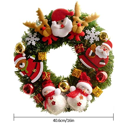 Amazon Com Fancywen Christmas Garland Decorative Wreath With