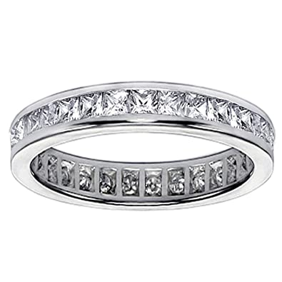 product anniversary bands princess gold cut stone band gabriel white diamond