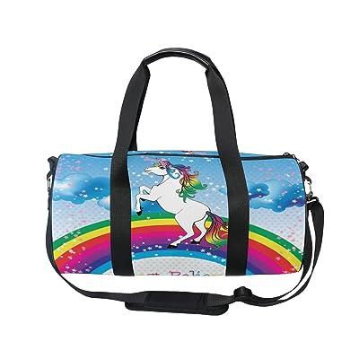 70%OFF Cooper girl Unicorn Believe Your Dream Duffels Bag Travel Sport Gym Bag