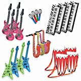 Band On The Run - Inflatable Musical Rock Band Instruments - 24 Piece Kit