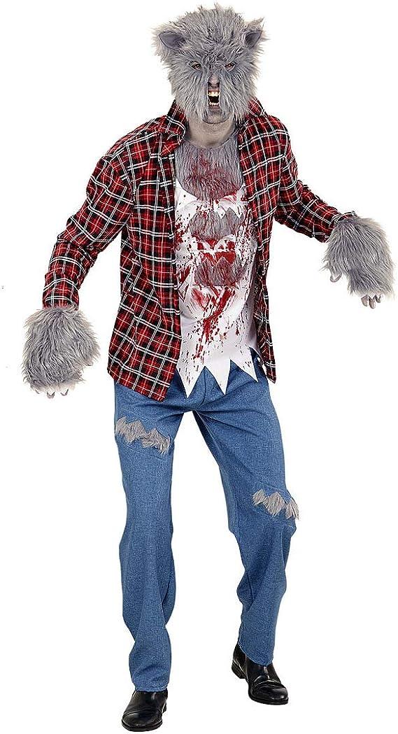 Sangriento Outfit de Hombre Lobo con máscara y Garras / M (ES 50 ...
