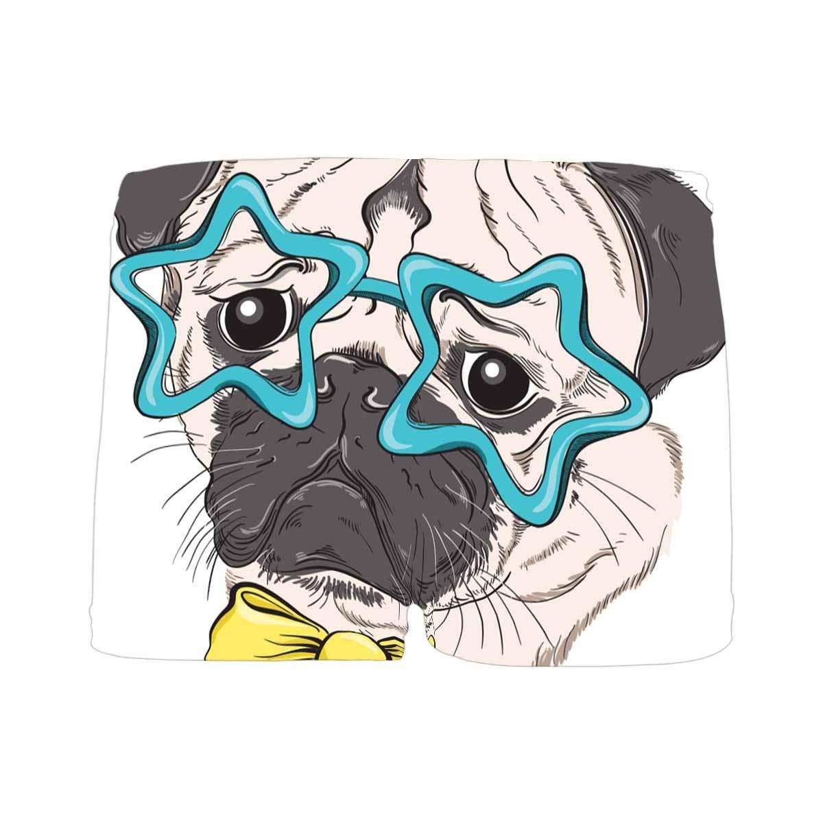 INTERESTPRINT Boys Pug Dog ComfortSoft Printed Boxer Briefs 5T-2XL