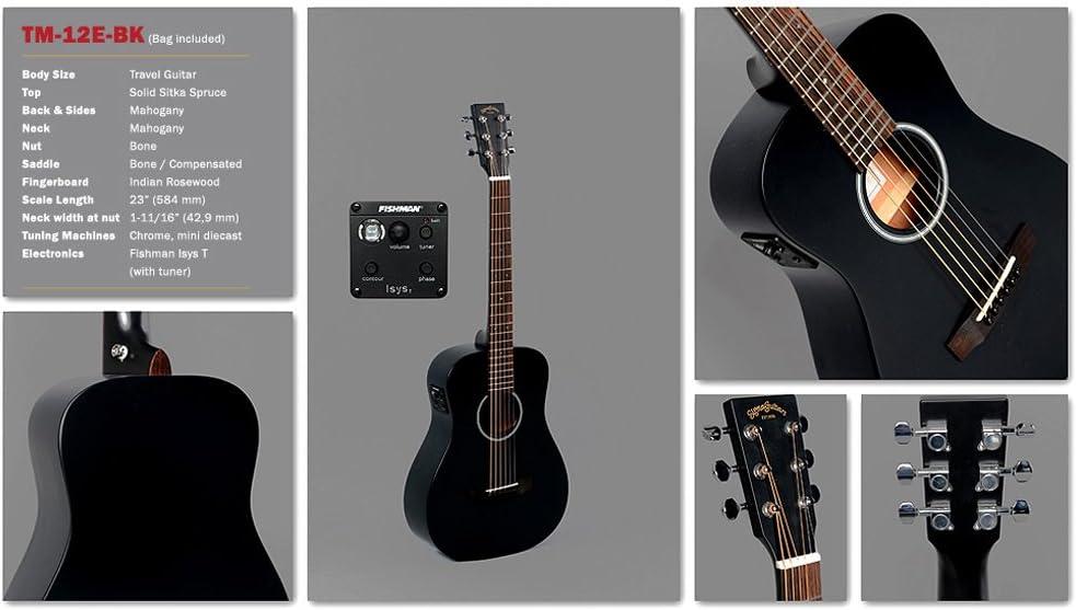 Sigma guitarras tm-12e-bk guitarra acústica bolsa incluido: Amazon ...