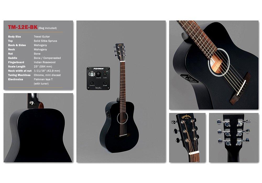 SIGMA GUITARS TM-12E-BK acoustic guitar Bag included: Amazon.co.uk ...