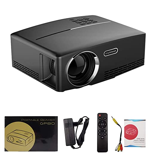 Hihey Gp80 LED Projector 1080P Full Color 180