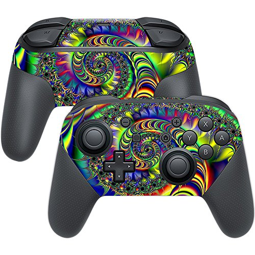 MightySkins Skin Compatible with Nintendo Switch Pro Controller - Acid   Protective, Durable, and Unique Vinyl Decal wrap Cover   Easy to Apply, Remove, and Change Styles   Made in The USA