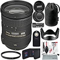 Nikon AF-S DX NIKKOR 18-200mm f/3.5-5.6G ED VR II Lens and Bundle w/ Xpix Cleaning Kit + Remote + UV Filter + More