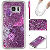 Galaxy S7 Case, Firefish Slim Dynamic Flowing [Anti-Slip] Flexible TPU [Scratch Resistances] Protective Cover for Girls Children Fits for Samsung Galaxy S7 -Butterfly