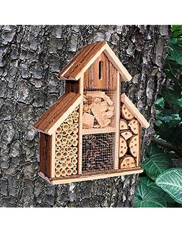 Hotel de madera para insectos, casa nido para abejas y mariquitas, ideal para jardín