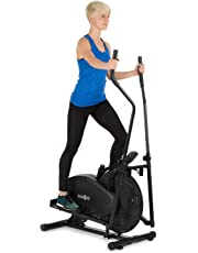 Klarfit Orbifit Basic • Crosstrainer • Hometrainer • Vélo ellipitique • Ordinateur d'entraînement • Guidon réglable en Hauteur • Cadre en Acier • Pédales antidérapantes • Max 100kg • Noir