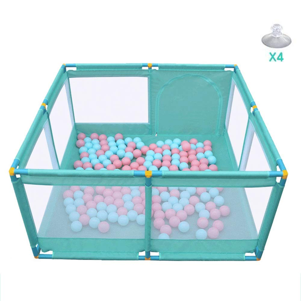 A Suction cup A Suction cup Xyanzi-Portable Baby playpen Portable Baby Plaype,Baby Play Yard Safety Play Center Yard Home Indoor Fence Anti-Fall Play(Clour Green) (color   A, Size   Suction Cup)