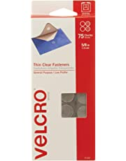 "VELCRO Brand - Sticky Back - 5/8"" Coins, 75 Sets - Clear"
