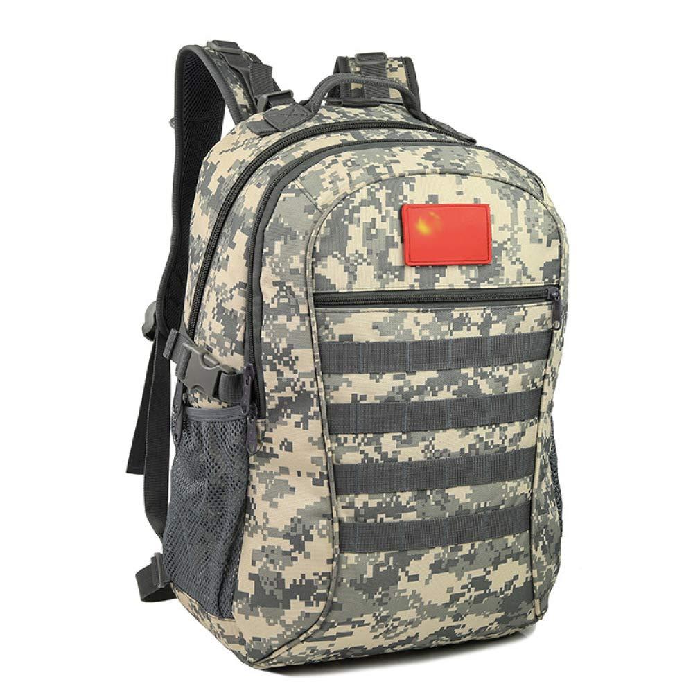 QWKZH Sacs à Dos Loisir Sac à Dos 3D Tactique Camouflage en Plein air Sac d'alpinisme armée Sac de Champ de Ventilateur Sac à Dos d'équitation