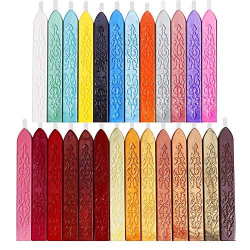 26 Barras de Lacre de 9cm largo x 1.3cm de lado - Multicolor