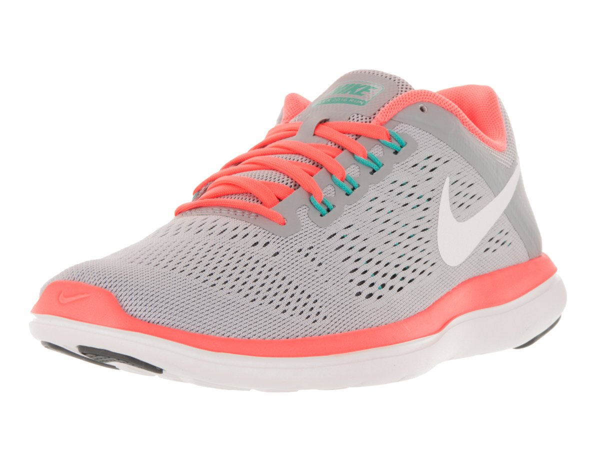 NIKE Women's Flex 2016 Rn Running Shoes B014ECGFX0 9 B(M) US|Wolf Grey/White/Dark Grey/Bright Mango