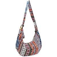 BESTOYARD Thai Hobo Crossbody Bag Shoulder Bag Messenger Bag Hippie Boho Bohemian Purse